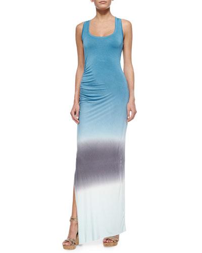 Maelle Racerback Maxi Dress, Teal/Sky