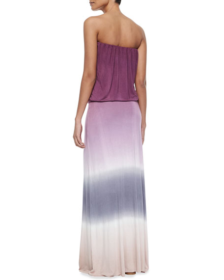 Sydney Ombre Jersey Maxi Dress, Wine/Pink