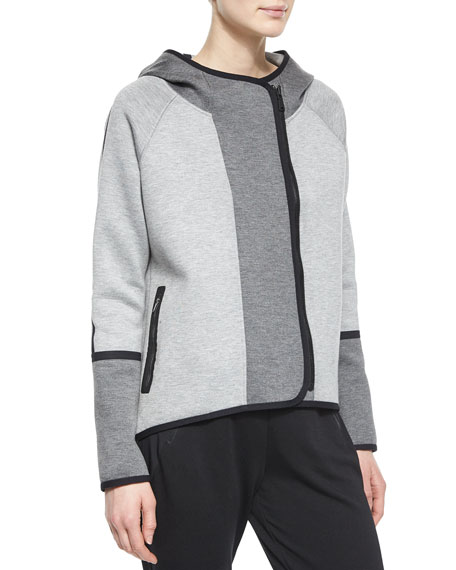 Tahari Woman Margie Hooded Off-Center-Zip Jacket