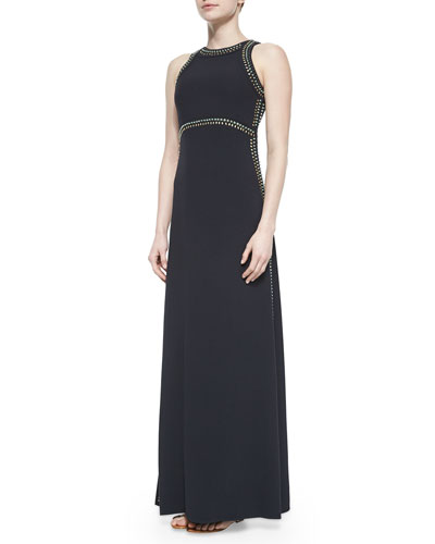 Jeannie Embellished-Trim Dress