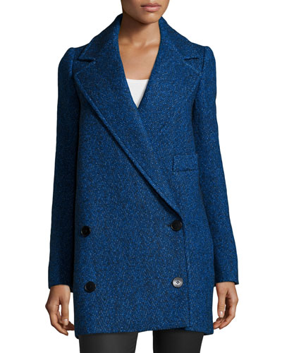 Double-Breasted Coat, Blue