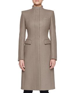 Wool-Blend Long Coat