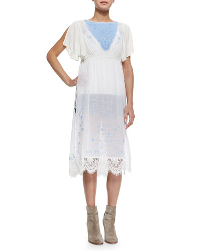 Sugar Brunch Long Voile Tunic