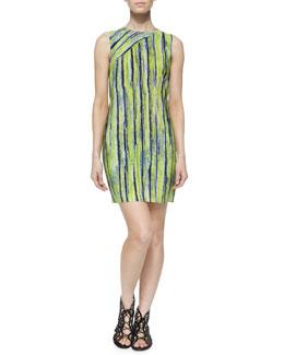 Sleeveless Citron Striped Dress