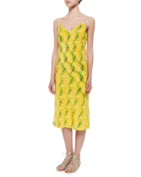 Andrew Marc Miami Camo-Print Slip Dress