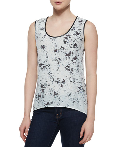 Blurred Dot Sleeveless Tank