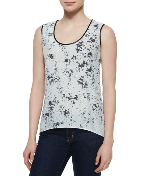 Andrew Marc Blurred Dot Sleeveless Tank