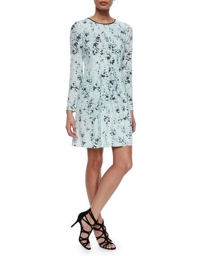 Blurred Dot Skater Dress