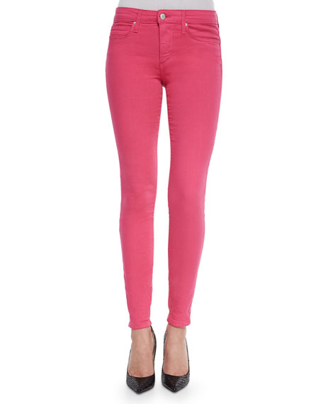 Mid-Rise Skinny Jeans, Pink