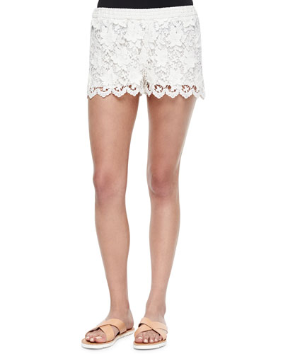 Niklas Pull-On Crochet Shorts
