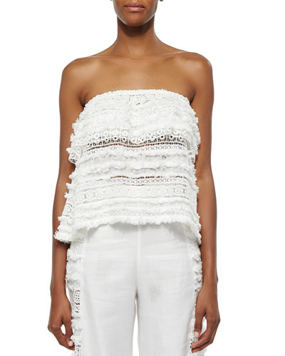 Valentin Tiered Lace/Fringe Top