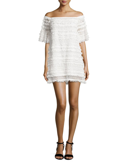 Alexis PABLO WHITE FRINGED LACE OFF