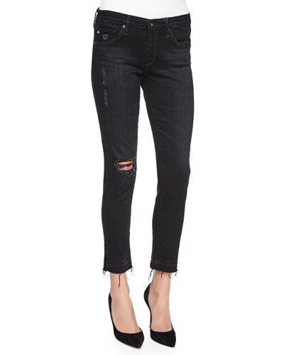 Stilt Cropped Ankle Jeans, Repurposed Black