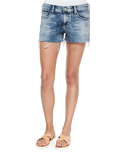 Bonnie Faded Cutoff Shorts, Moonbeam Rip