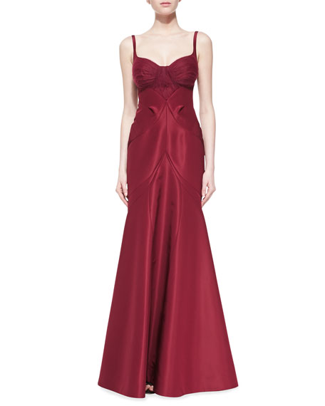 Silk Faille Sleeveless Gown