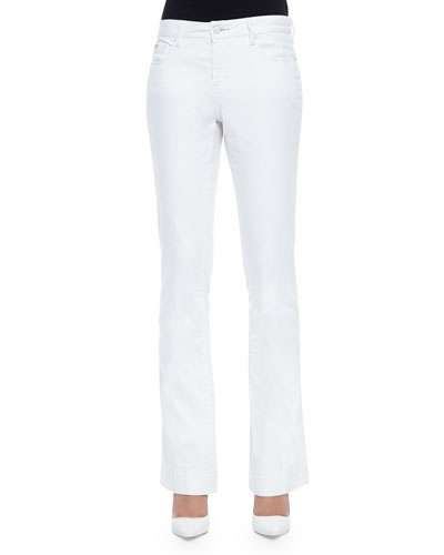 Laura Flare Jeans, White
