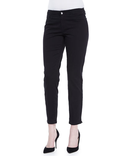 Kristin E-Waist Ankle Pants, Black