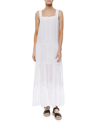 Sleeveless Victoryia Maxi Dress, White