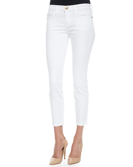 Current/Elliott The Stiletto Cropped Skinny Jeans, Sugar