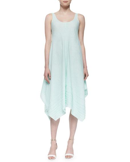 Organic Linen Scoop-Neck Tank Dress, Aurora, Petite