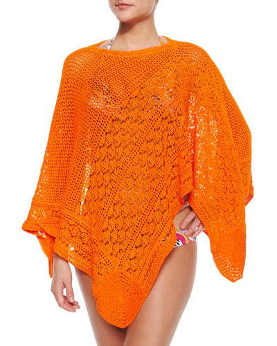 Sfumato Bright Knit Poncho Coverup