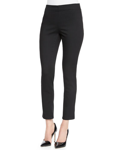Millie Pull-On Ankle Pants, Black