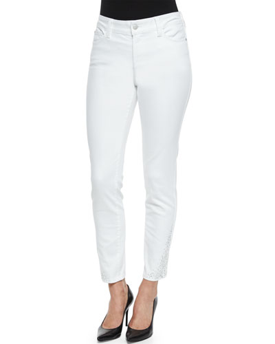 Amira Narrow Ankle Jeans, Optic White