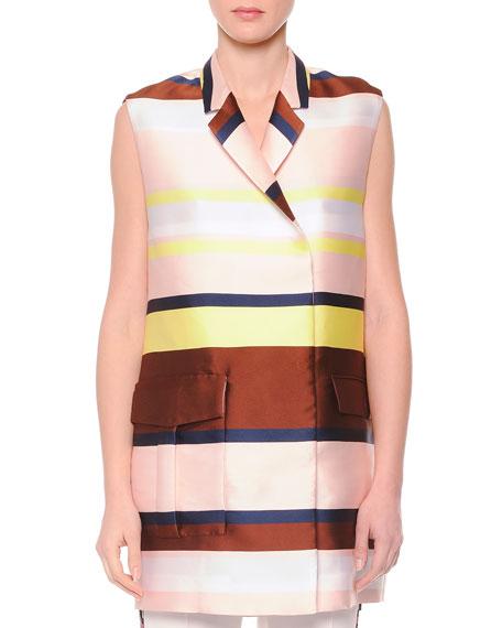 MSGM Striped Shantung Suit Vest
