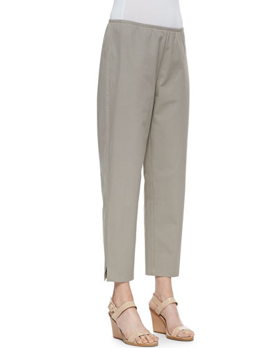 Organic Stretch Twill Slim Ankle Pants, Women