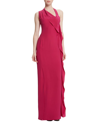Billy Jean Draped Column Gown