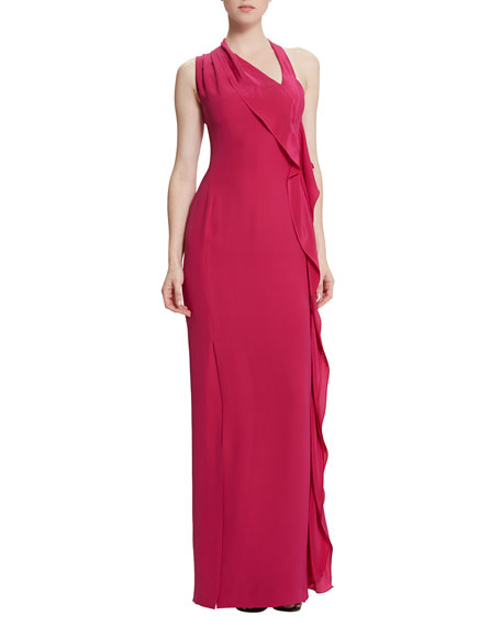 Raoul Billy Jean Draped Column Gown