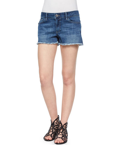 Lola Frayed Denim Cutoff Shorts