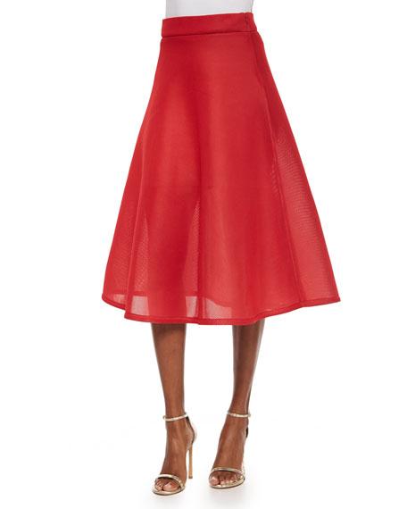 Full Mesh Midi Skirt, Blazing
