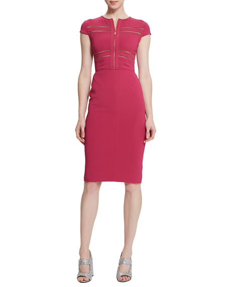 Raoul Brianna Zip-Front Sheath Dress
