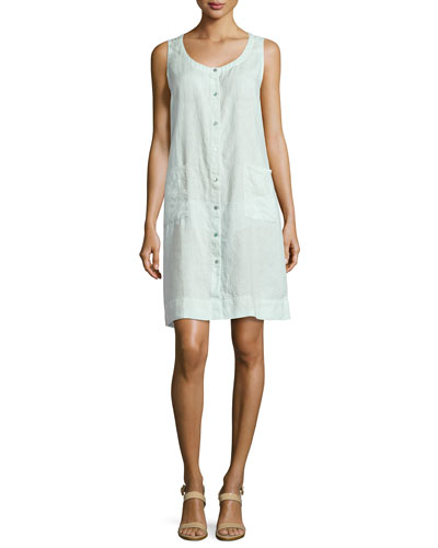 Sleeveless Organic Linen Dress, Aurora