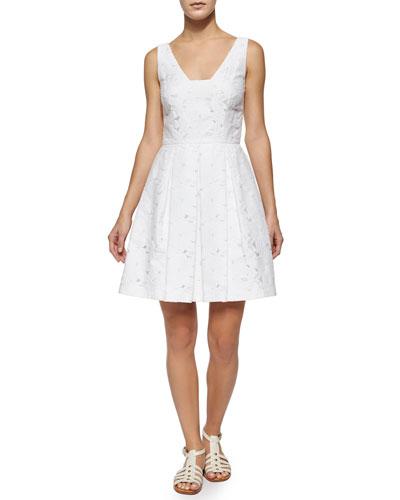 Joanne Sleeveless Lace Pleated Dress