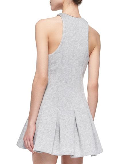 T by Alexander Wang Sleeveless Scuba Box-Pleated Dress