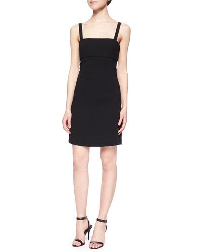 Back-Cutout Bandeau Sheath Dress