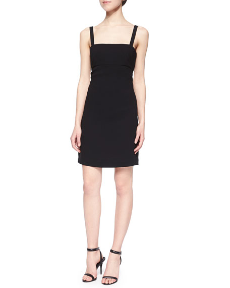 T by Alexander Wang Back-Cutout Bandeau Sheath Dress