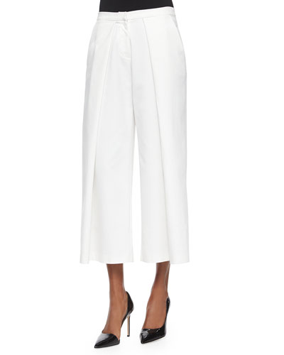 Jayce Pleated Culottes, Off White