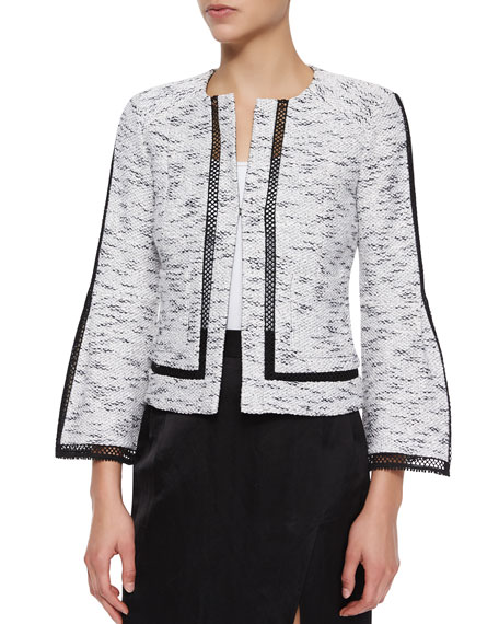 Nanette Lepore Graphic Tweed Jacket