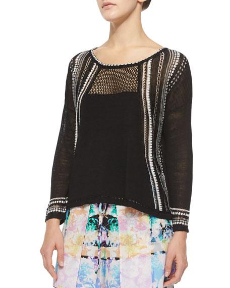 Nanette Lepore Flyaway Mesh Pullover Top