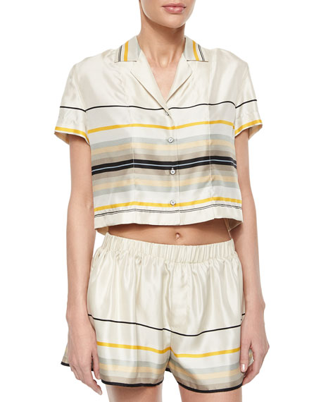 Rag & BoneLayne Short-Sleeve Striped Top