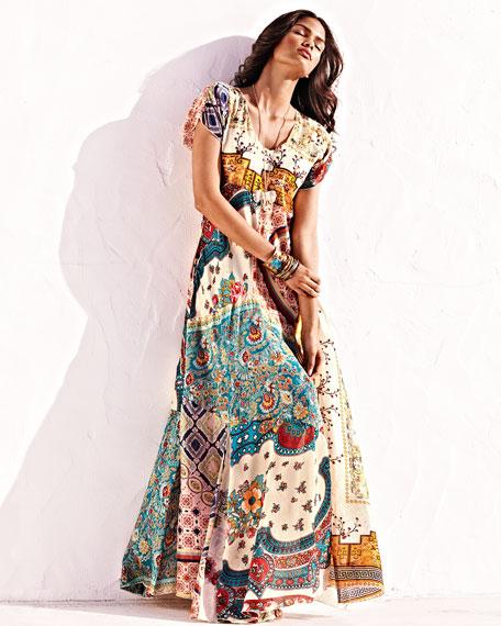 Long Patchwork Dress, Plus Size