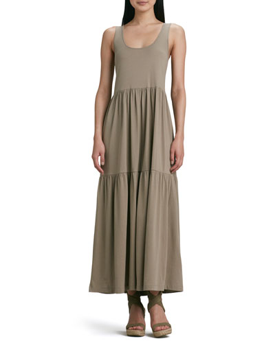 Tiered Long Tank Dress, Women's