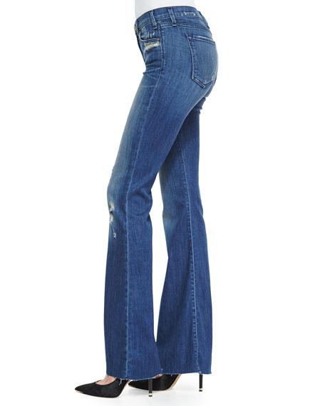Majorelle Distressed Flare Jeans, Vintage Series 1