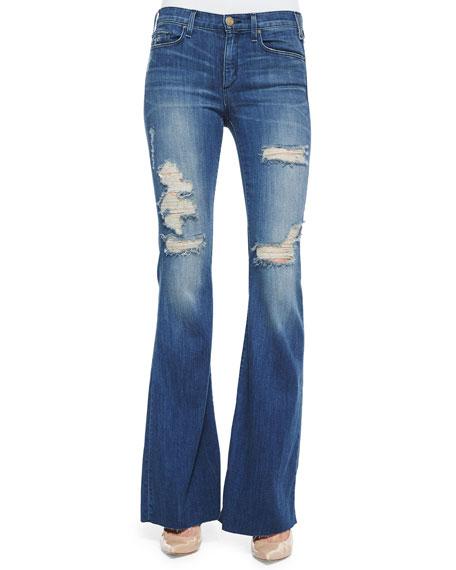 McGuire Majorelle Distressed Flare Jeans, Vintage Series 3