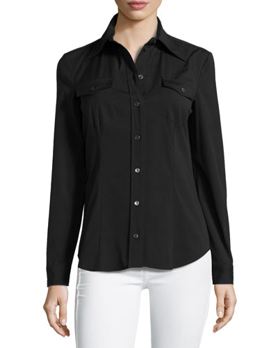 Button-Down Shirt, Black