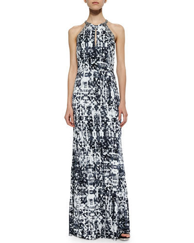 Lita Abstract-Print Maxi Dress, Gazette