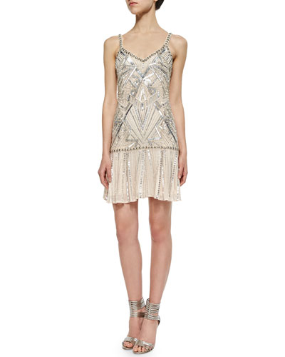 Devany Beaded Sleeveless Dress